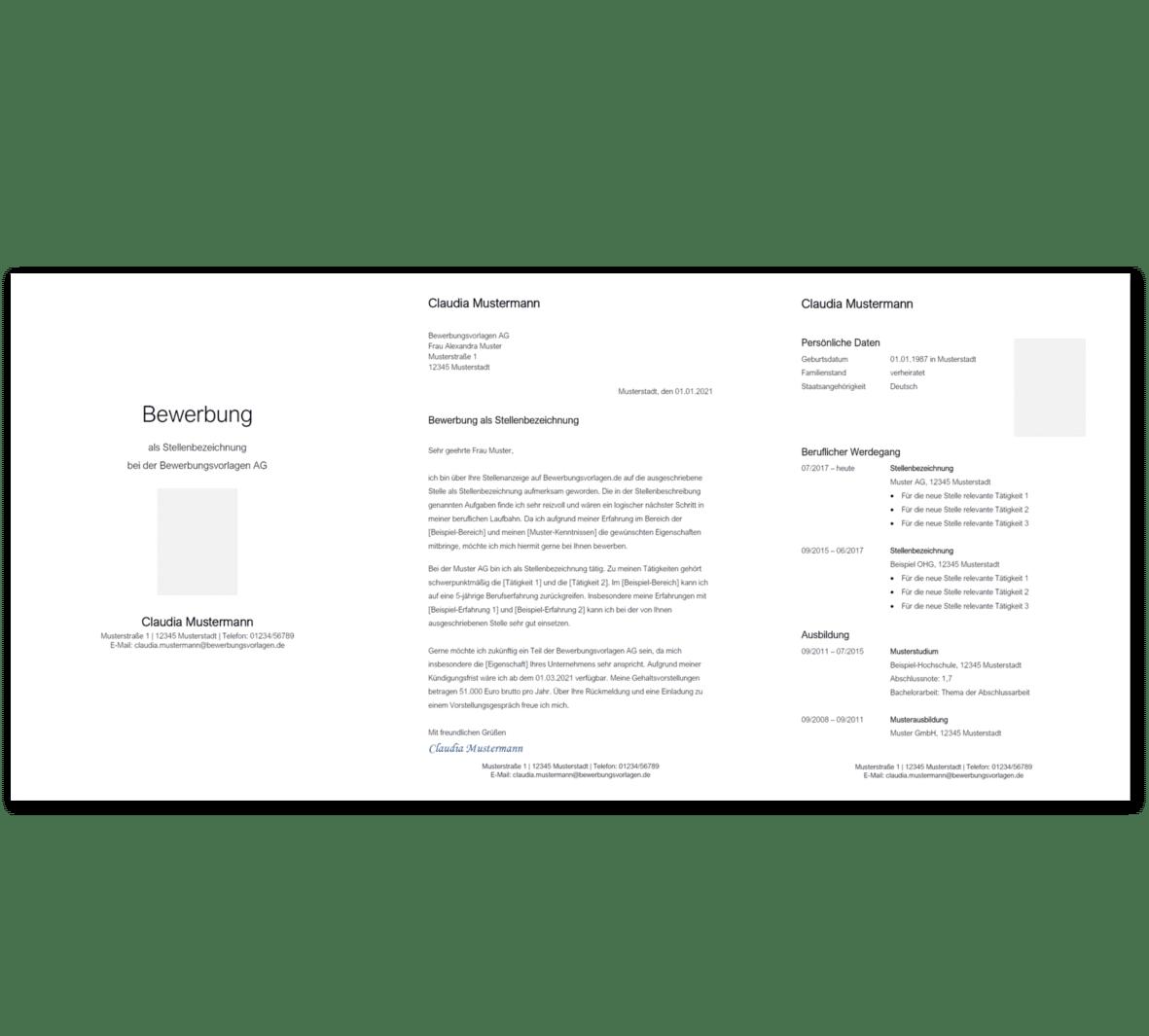 Bewerbungsvorlage 1: Kostenloser Download