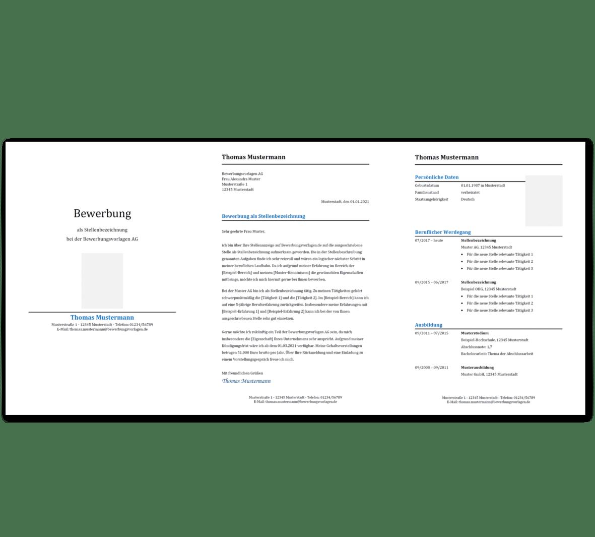 Bewerbungsvorlage 10: Kostenloser Download