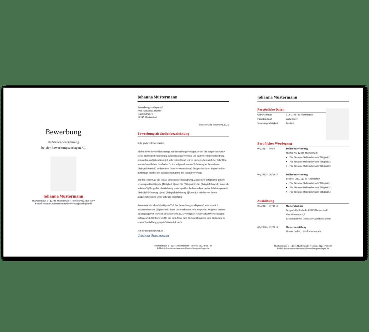 Bewerbungsvorlage 11: Kostenloser Download