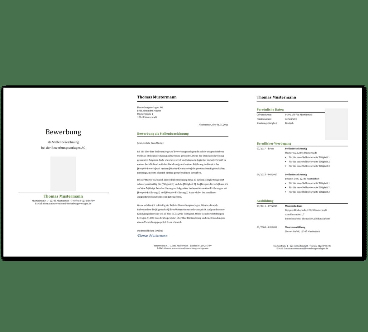 Bewerbungsvorlage 12: Kostenloser Download