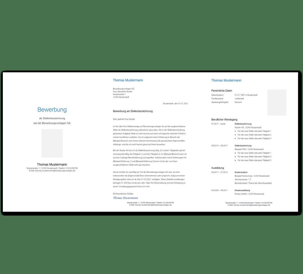 Bewerbungsvorlage 2: Kostenloser Download