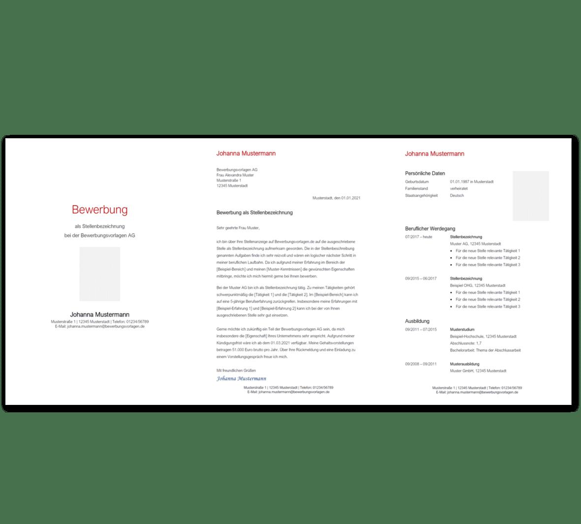 Bewerbungsvorlage 3: Kostenloser Download