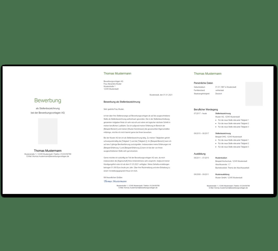 Bewerbungsvorlage 4: Kostenloser Download