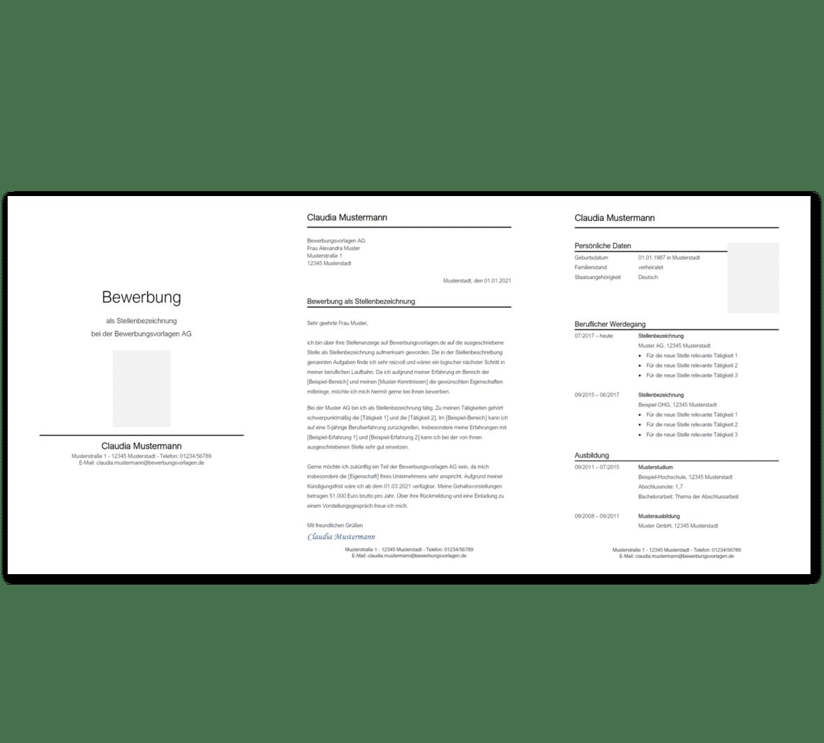 Bewerbungsvorlage 5: Kostenloser Download