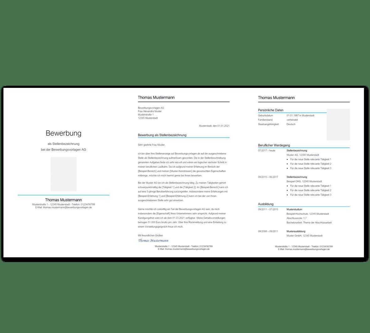 Bewerbungsvorlage 6: Kostenloser Download