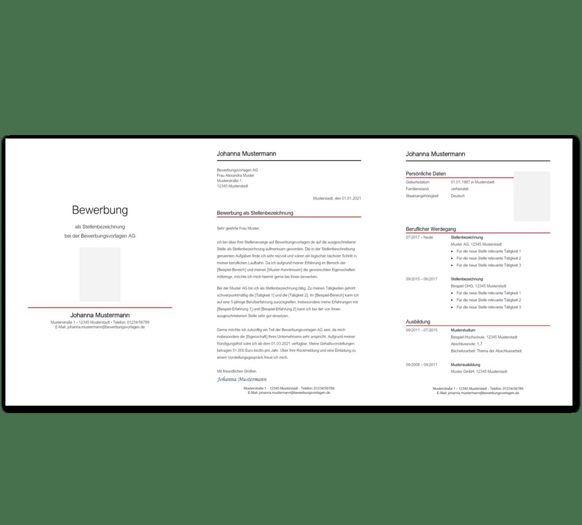 Bewerbungsvorlage 7: Kostenloser Download