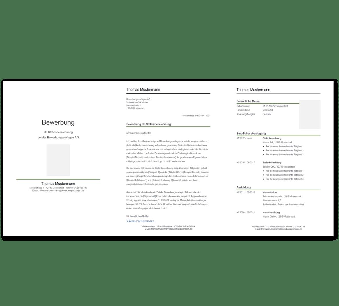 Bewerbungsvorlage 8: Kostenloser Download