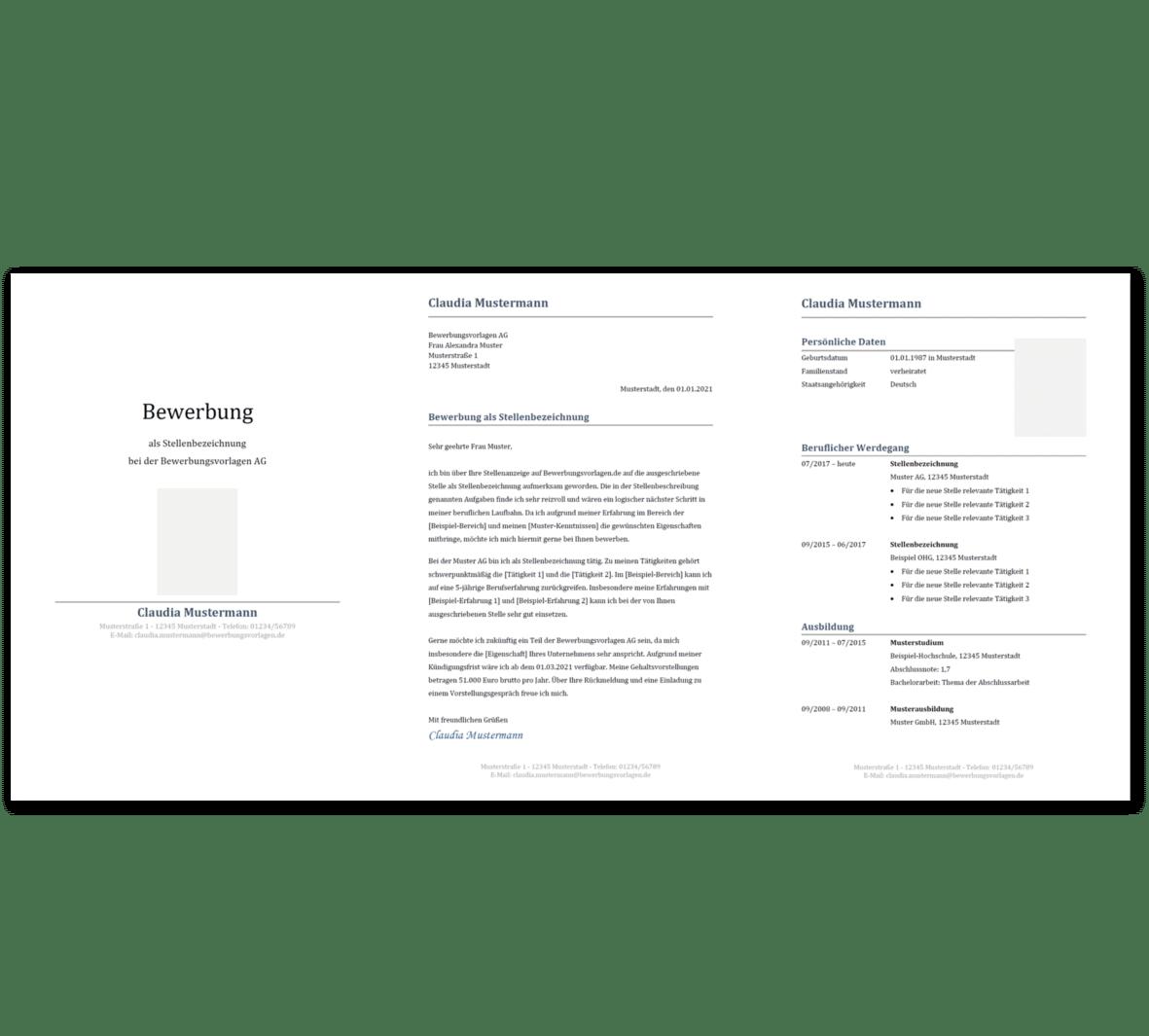 Bewerbungsvorlage 9: Kostenloser Download
